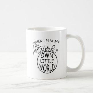 In My Own Little World Tin Whistle Basic White Mug