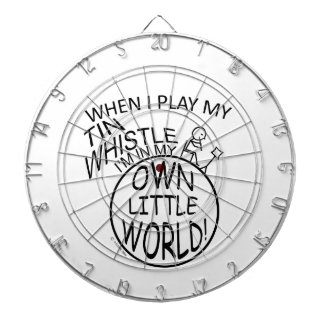 In My Own Little World Tin Whistle Dartboard With Darts