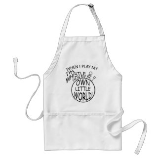 In My Own Little World Tin Whistle Standard Apron