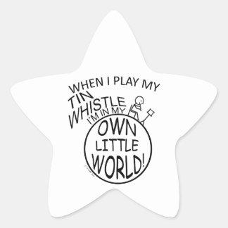 In My Own Little World Tin Whistle Star Sticker