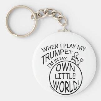 In My Own Little World Trumpet Key Ring