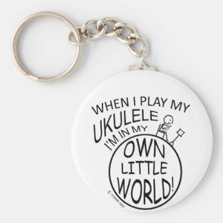 In My Own Little World Ukulele Key Ring