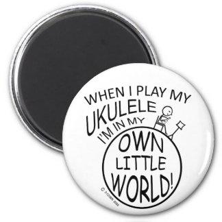 In My Own Little World Ukulele Magnet