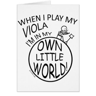 In My Own Little World Viola Card