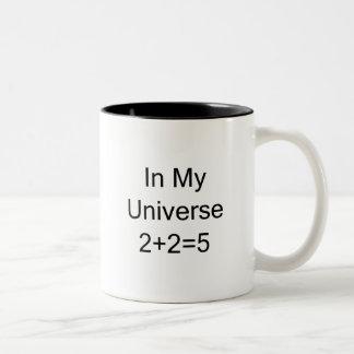In My Universe 2+2=5 Two-Tone Mug