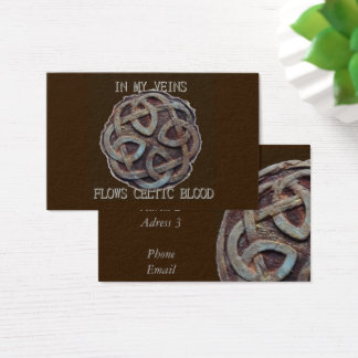 In my veins flows celtic blood business card