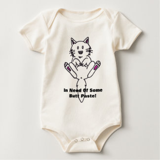 In Need Of Some Butt Paste! kitty shirt-baby Romper