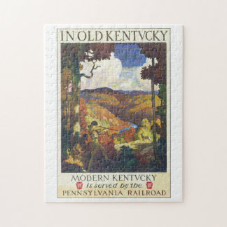 In Old Kentucky Vintage Travel Poster Artwork Jigsaw Puzzle
