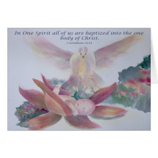 """In One Spirit"" Child Baptism Card"