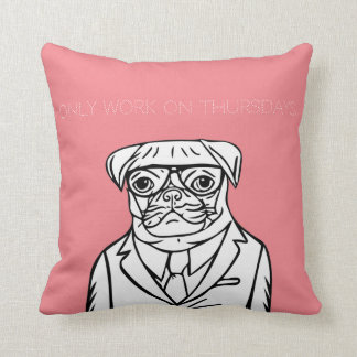 In only work on thursdays throw pillow