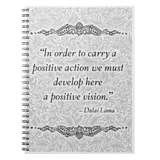 In order to carry a positive - Positive Quote´s Spiral Notebook