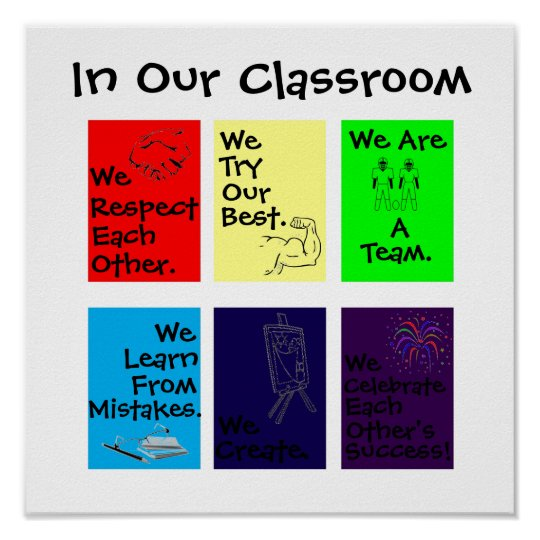 """In Our Classroom"" motivational poster"