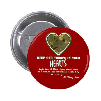 In Our Hearts 6 Cm Round Badge