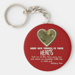In Our Hearts Basic Round Button Key Ring