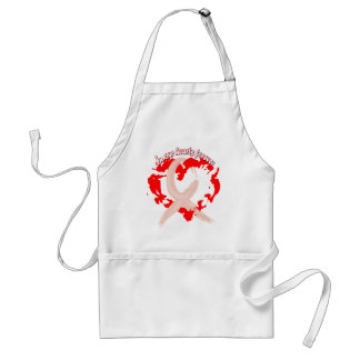 In Our Hearts Forever Apron