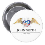 In Our Hearts Forever Customise 7.5 Cm Round Badge