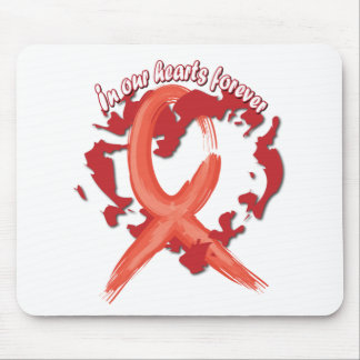 In Our Hearts Forever - Red Mouse Pad