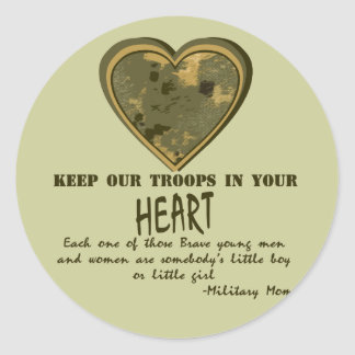 In Our Hearts Round Sticker