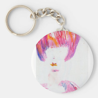 In Pink She Loves Basic Round Button Key Ring
