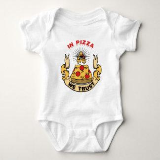 In Pizza We Trust Baby Bodysuit