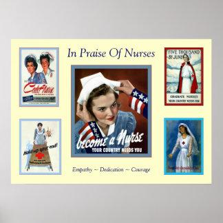 In Praise of Nurses ~ Vintage Nurse Print