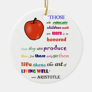 In Praise of Teachers Christmas Ornament