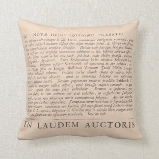 In Praise of the Authors Antique Latin Texts Throw Pillow