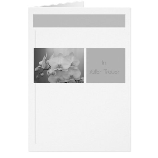 In quiet mourning card
