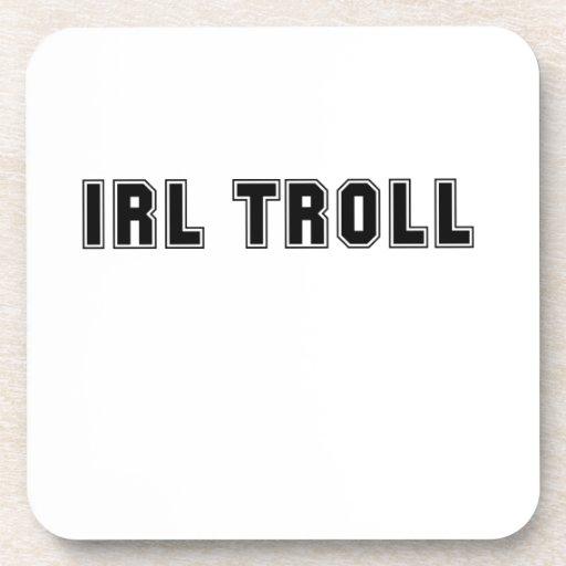 In Real Life IRL Troll Internet Meme Drink Coasters