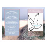 In Rememberance Funeral Program-single fold Full Color Flyer