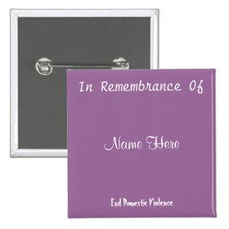 In Remembrance Of 15 Cm Square Badge