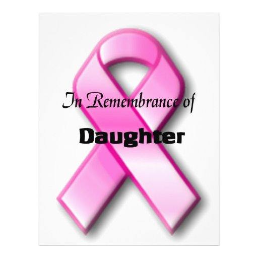 In remembrance of daughter full color flyer
