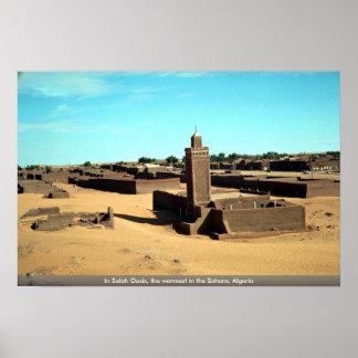 In Salah Oasis the warmest in the Sahara Algeria Print
