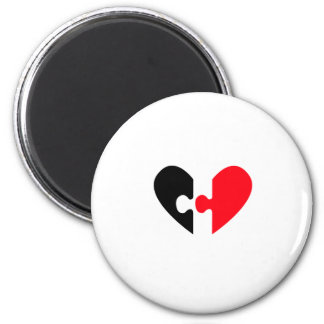 In Search For Love 6 Cm Round Magnet
