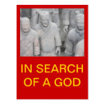 IN SEARCH OF A GOD POSTCARD