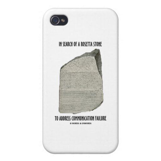 In Search Of Rosetta Stone Address Communication iPhone 4/4S Covers