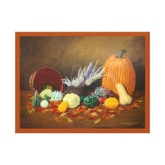 """In Season"" Still Life Fine Art Celebrating Fall Canvas Print"