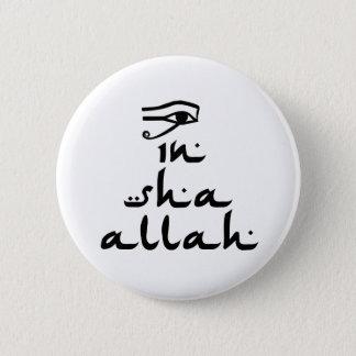 In Sha Allah 6 Cm Round Badge