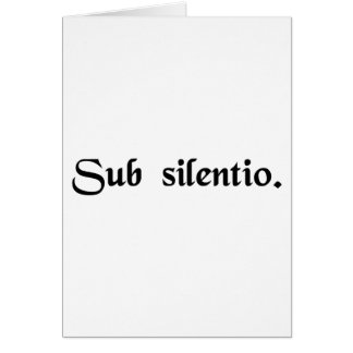 In silence. greeting cards