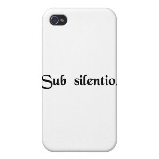 In silence iPhone 4 cases