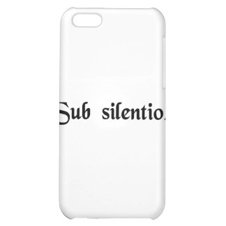 In silence iPhone 5C cases