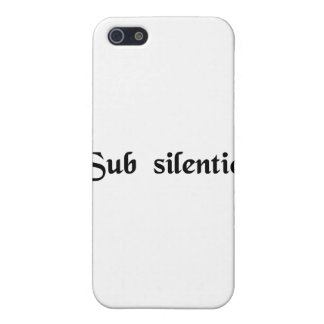 In silence cover for iPhone 5