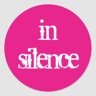 In Silence sticker
