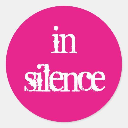 In Silence sticker