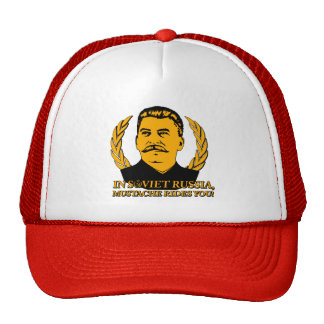 In Soviet Russia, Mustache Rides You! Cap