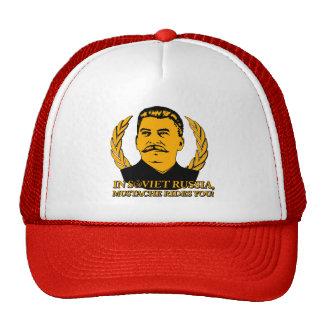 In Soviet Russia, Mustache Rides You! Trucker Hats