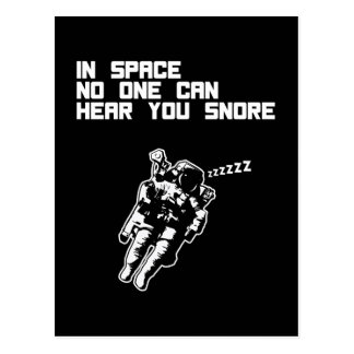 In Space No One Can Hear You Snore (dark) Postcard