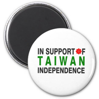 In Support of Taiwan Independence 6 Cm Round Magnet