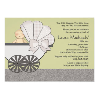 In Suspense (You Pick Background Color)Baby Shower Card