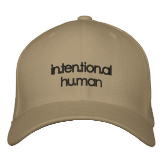 in.ten.tion.al  hat embroidered hat